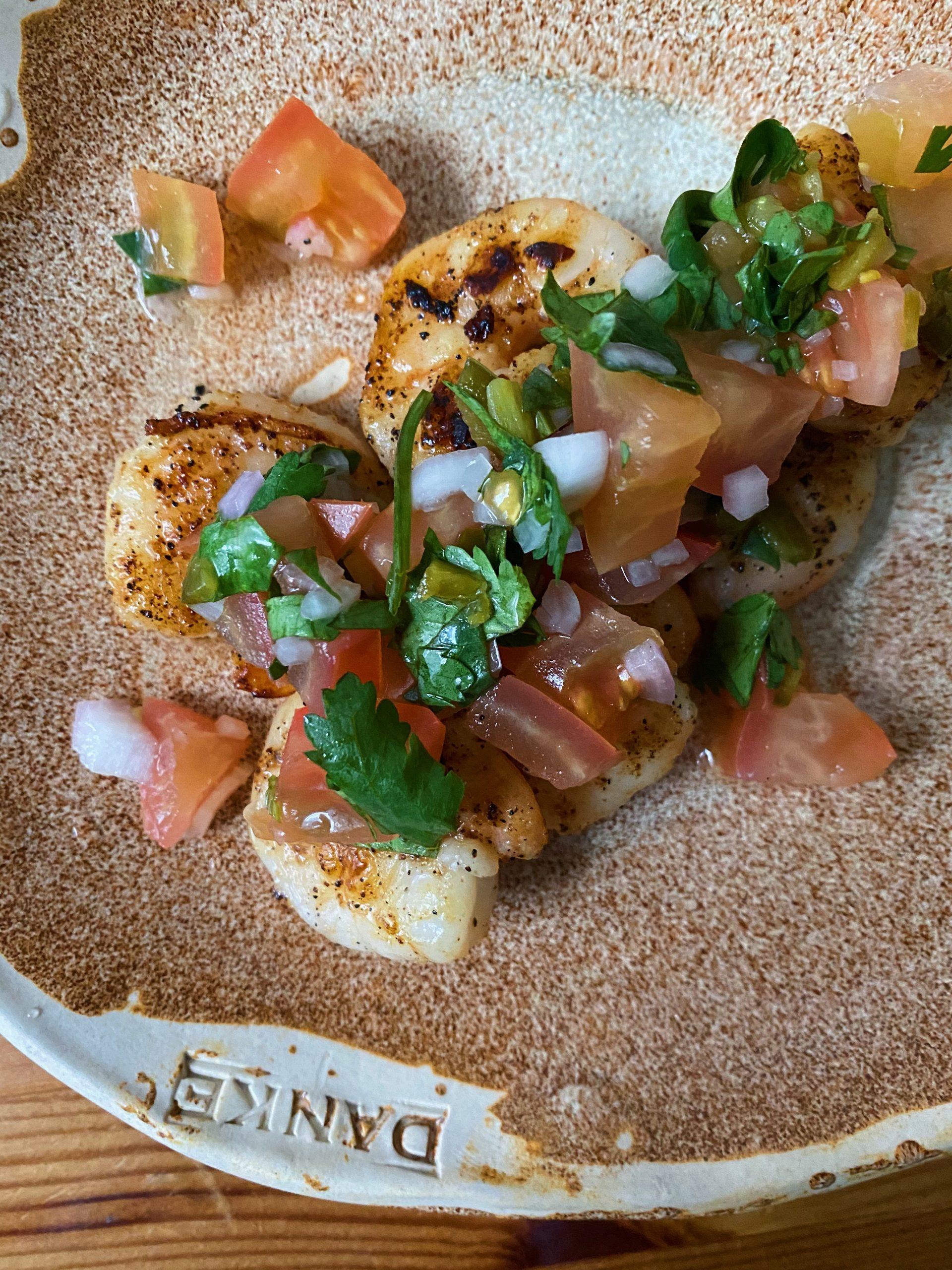 Grilled Shrimp with Gut Loving Salsa